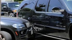justin bieber u0027s escalade was involved in a car crash paparazzi