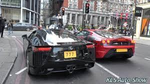 lexus v10 engine lexus lfa v10 exhaust sound in london youtube