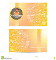 vector of bakery business card template design stock vector