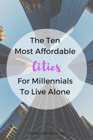 the 10 most affordable cities for millennials to live alone home