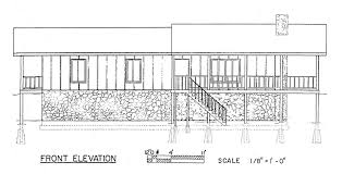 House Plans For Sloping Lots Free 3 Bedroom Ranch House Plan With Porch For Sloped Lot