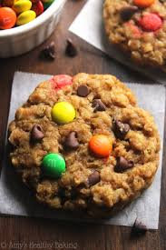 healthy classic monster cookies amy u0027s healthy baking