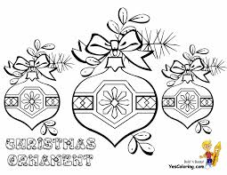 free printable coloring pages ornaments for
