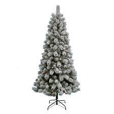 tree pre lit flocked tree nicholas ft pre