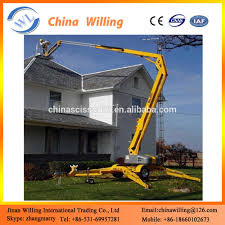 two wheels truck mounted hydraulic telescopic aerial platform boom