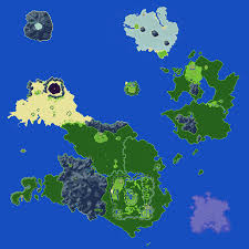 The World Map Labeled by Secret Of Mana Maps