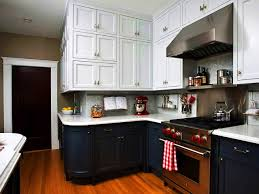 colorful two toned kitchen cabinets fresh green and white