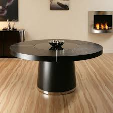 dining room table with lazy susan truly stunning ag design ct3706 large round dining table in black