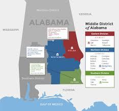 Alabama Florida Map by Alabama Middle District Alabama Middle