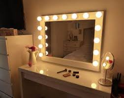 mirror with light bulbs hollywood chic xl vanity mirror vanities room and room ideas