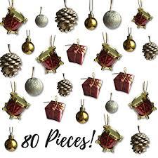 mini ornaments assorted set of 80 ornaments