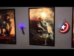 3d deco superhero wall lights awesome 3d deco light show youtube