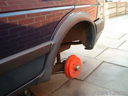 1991 vw golf mk2 with red painted rear brakes