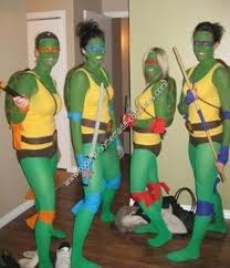 ninja turtle diy group halloween costume idea for college