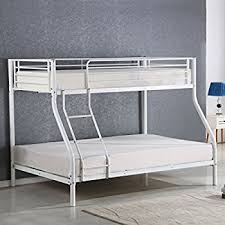Metal Bunk Bed Frame Amazon Com Costzon Twin Over Full Metal Bed Metal Bunk Bed Frame