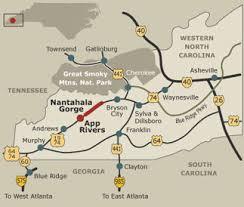 nantahala river map whitewater rafting in the nantahala national forest