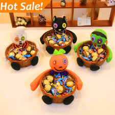 Halloween Buckets Halloween Buckets Decoration Weaving Container Candy Sweet Box