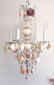 Seashell Light Fixture And Shell Chandelier Embellished Witih Seashells