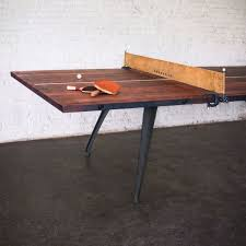 reclaimed wood game table ping pong table reclaimed hardwood ping pong table steel frame