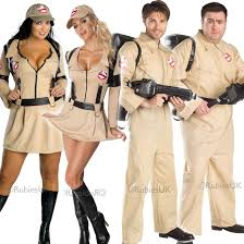 mens ladies ghostbusters 80s women halloween movie fancy