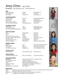 Acting Resume Creator by Resume Amy Clites