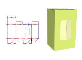 free paper box dieline template and 3d mockup shanghai de