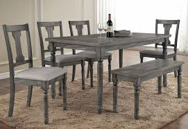 Grey Dining Table Chairs Grey Rustic Dining Table Room Sets Home Design Ideas Pertaining To