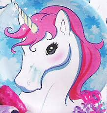 unicorn head scanned the catalog page enlarged it and used the