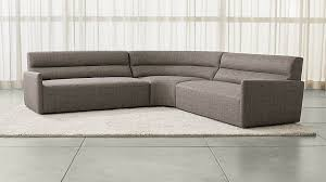 Circular Sectional Sofas Sydney 3 Piece Curved Sectional Sofa Crate And Barrel
