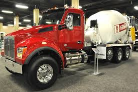 kenworth concrete truck concrete products kenworth previews set forward front axle version