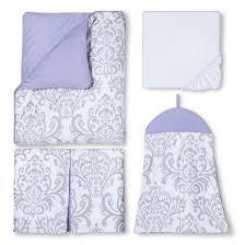 sweet jojo designs 11pc lavender elizabeth crib bedding set