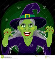 halloween scary background green evil scary witch dark background stock vector image 58061618