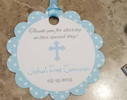 baptism favor tags boys baptism favor tags baptism gift tags communion favor tags