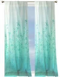 Teal Bird Curtains Drape Crib Bird Sanctuary Sheer Curtains Sweet Baby