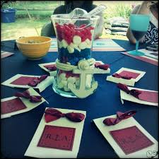 Candy Vases Centerpieces Bridal Shower Candy Vase Centerpiece Nautical Theme Wedding