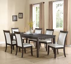 ariana dark gray 2368 7 pc dining room set