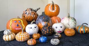 pumpkin decorations kids pumpkin decorating ideas 12 process no carve pumpkins