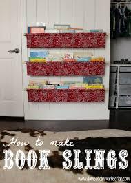 Fabric Sling Bookshelf How To Make Book Slings Alternative Books And Child