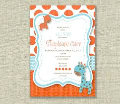 jungle baby shower invite baby boy shower invitation jungle animal print tangerine orange