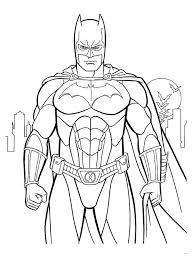 free printable batman cartoon coloring books kids