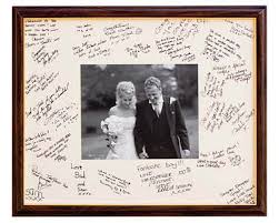 wedding autograph frame wedding guest book picture frame signature picture guest