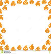 border with pumpkin stock vector image 73504498