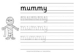 printable halloween handwriting worksheets for kids
