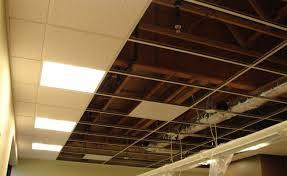 ceiling basement drop ceiling alternatives lights stunning