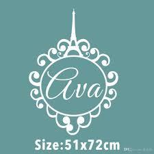 custom made personalized name eiffel tower monogram paris girls