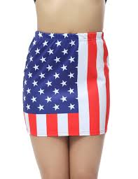 American Flag Swimming Trunks Women American Flag Print Elastic Mini Skirt Prettyguide