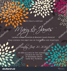 Church Anniversary Invitation Cards Wedding Card Invitation Abstract Floral Background Stock Vector