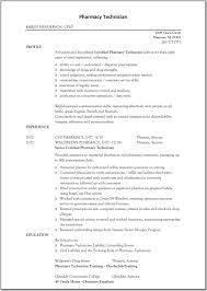 Resume Retail Examples by Examples Of Pharmacy Technician Resumes Free Resume Example And