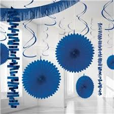 blue decorations from delights direct