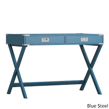 Blue Computer Desk Kenton X Base Wood Accent Caign Writing Desk Inspire Q Modern